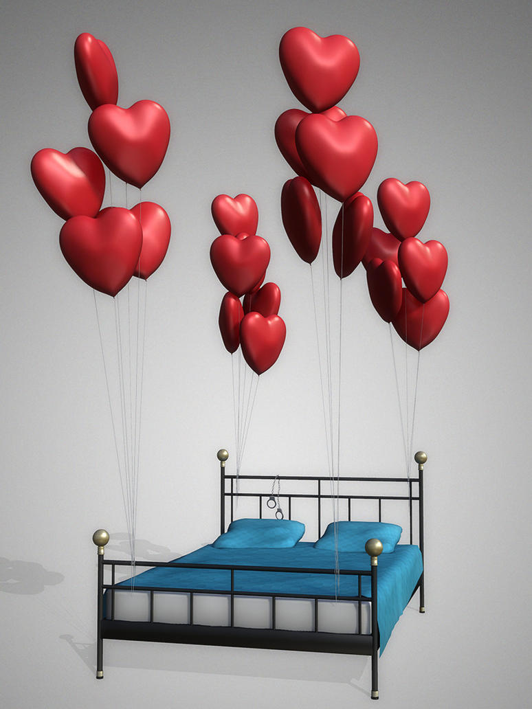 Valentine's Bed [XPS] by deexie