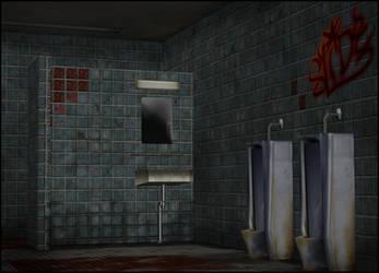 Dirty Restroom [XPS] by deexie