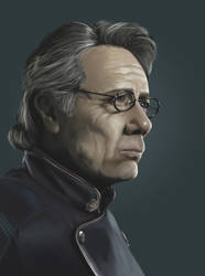 Commander William Adama by Dallas-Drake