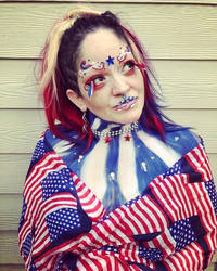 4th of July Makeup 2