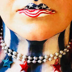 4th of July Makeup 3 Lips
