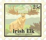 Irish Elk stamp