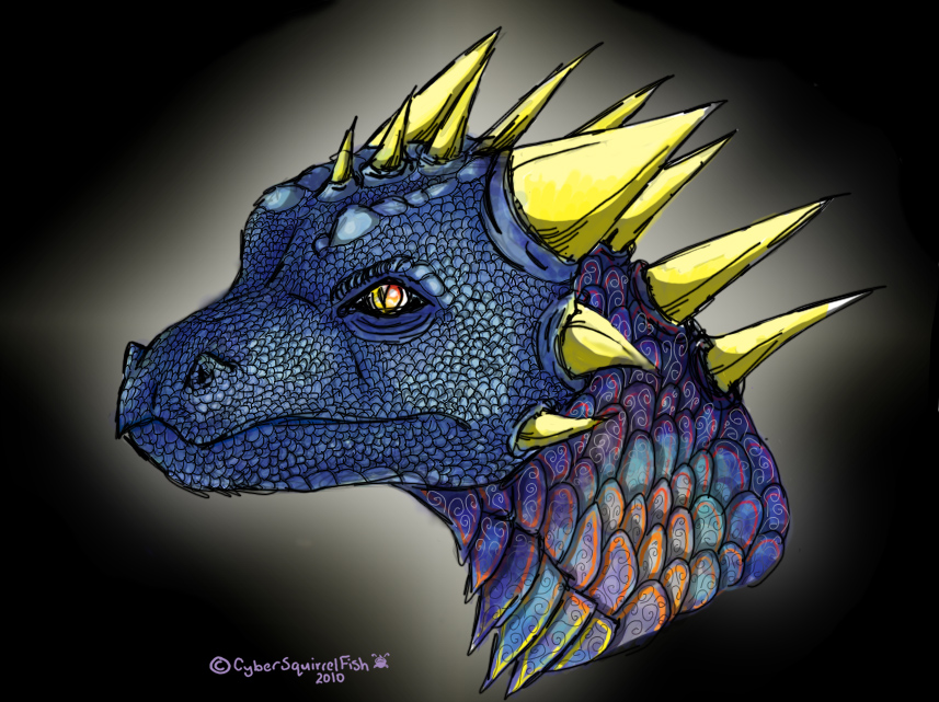 Dragon's face by CyberSquirrelFish on DeviantArt
