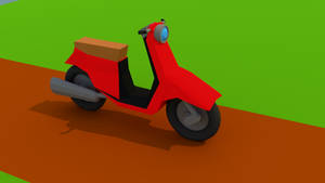 Low Poly Scooter