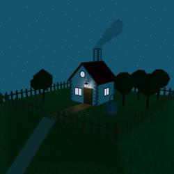 Casa en la colina (nueva version nocturna)
