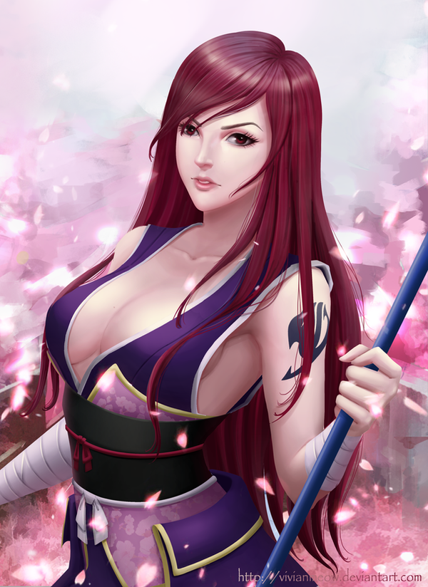 Erza Scarlet - Robe Of Yuen by VivianMeow
