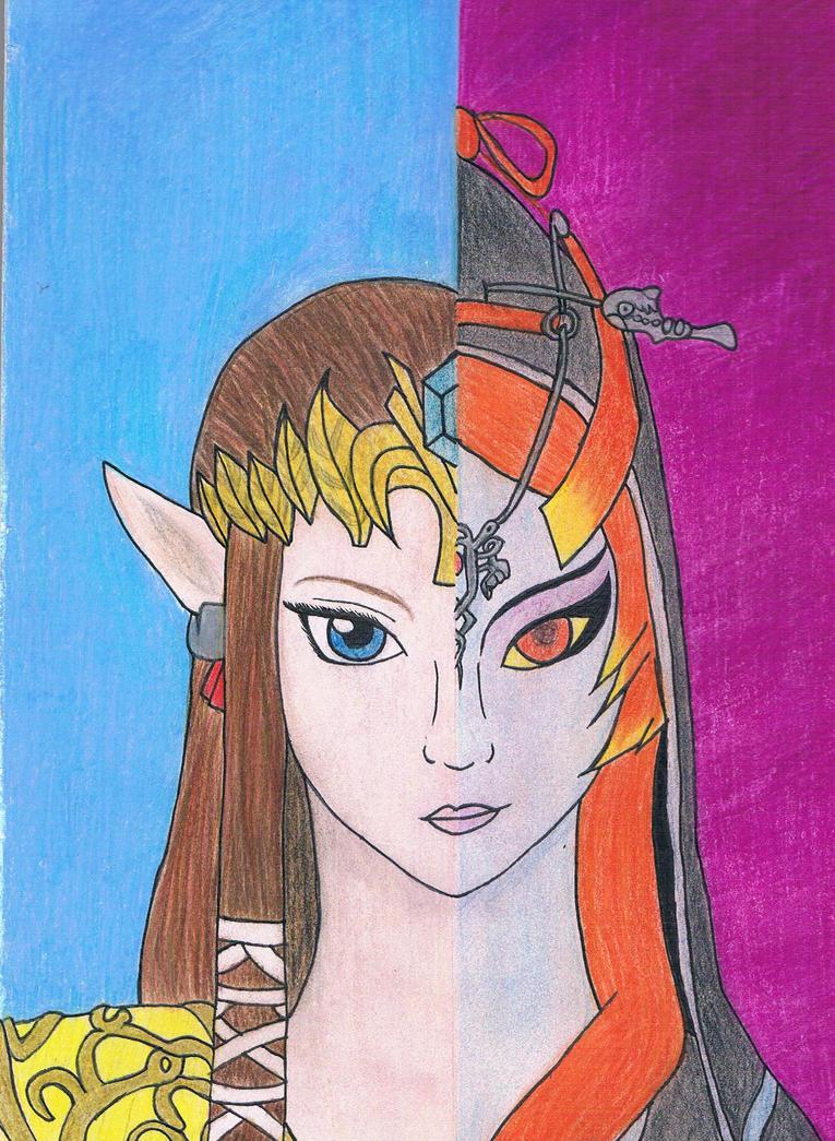 Zelda and Midna by Sasha-Ne123