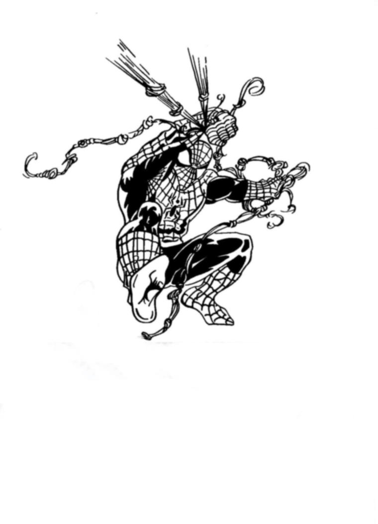 Spider man in black and white by palerider12 on deviantart - Black and white spiderman wallpaper ...