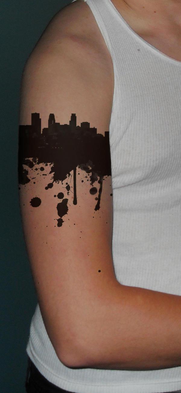 Minneapolis Skyline Tattoo by ~SPikEtheSWeDe on deviantART
