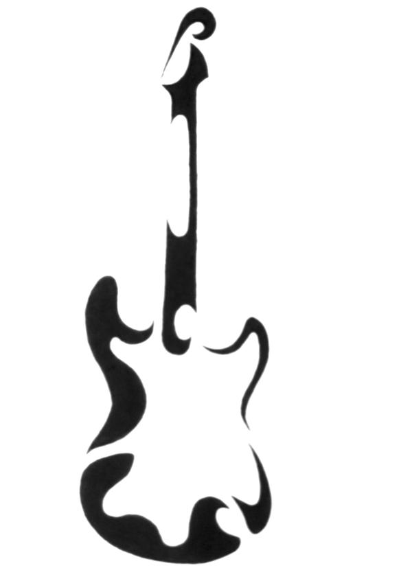 Guitar Abstract Tattoo by SPikEtheSWeDe