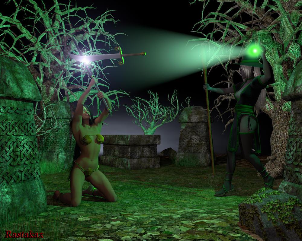 Sword vs. Magic Duel. by Rastakax