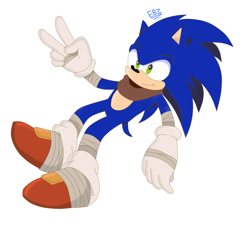 Sonic Boom-Sonic by XEver-Blue-ZoneCopX