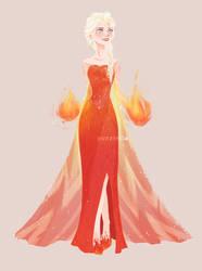Fire!Elsa by muttonfudge