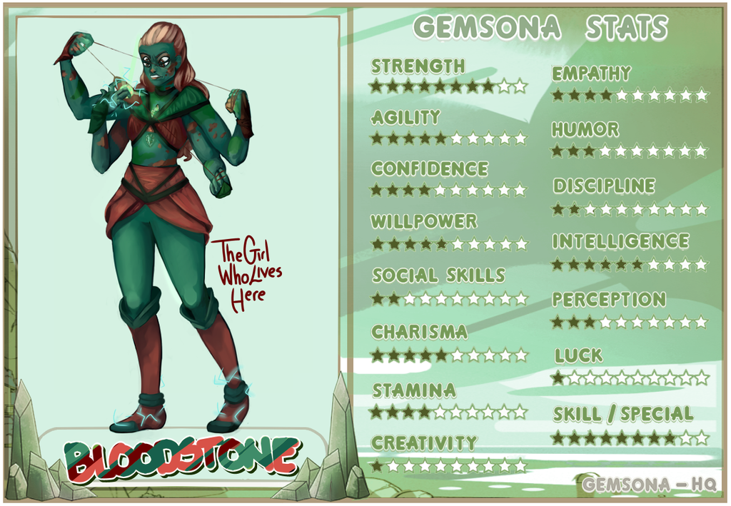 .:SPEEDPAINT VIDEO:. Fusion Bloodstone Gemsona by TheGirlWhoLivesHere
