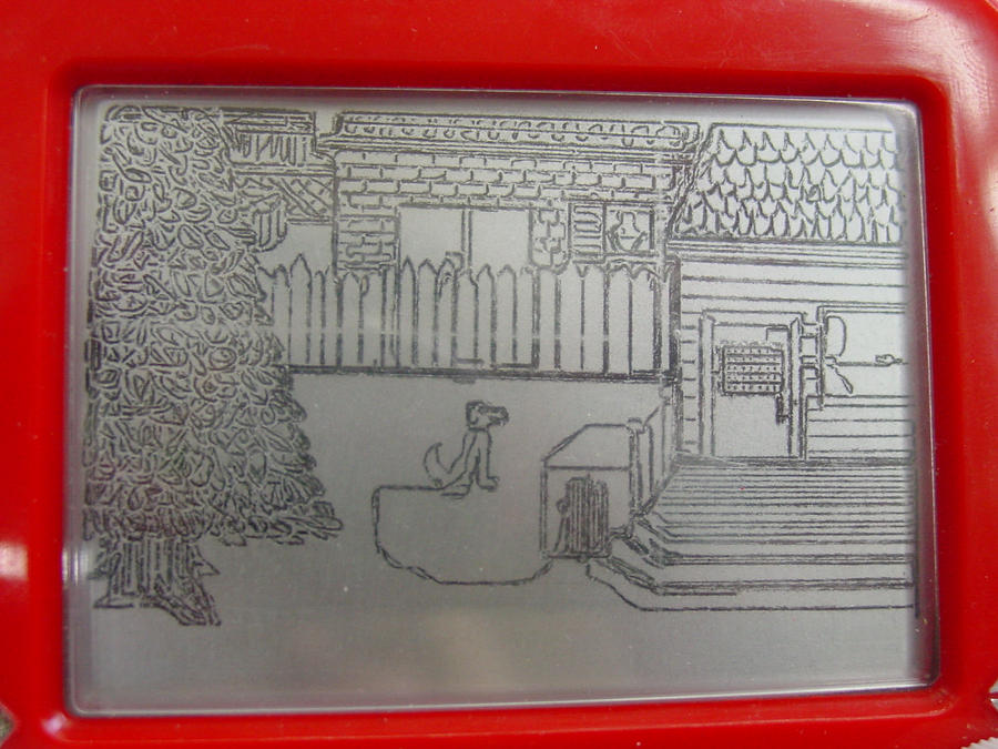 Mini Etch-a-Sketch House by Dreamscape195