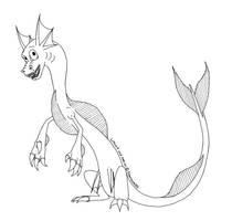 FWL Dragon - 3 point lineart by Dreamscape195