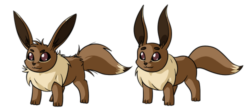 A couple of Eevees by Dreamscape195