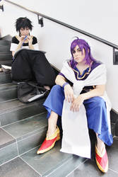 Sinbad and Judal at Anime Boston 13