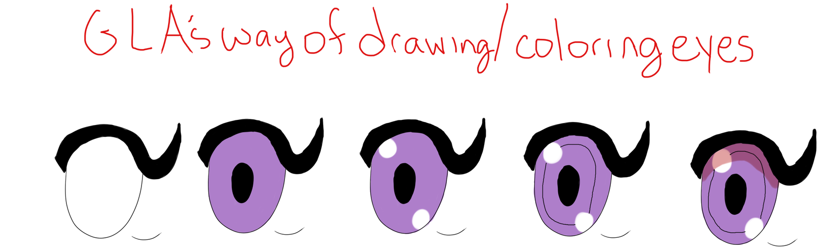 Way I draw and color eyes by GothicLolitaAngel
