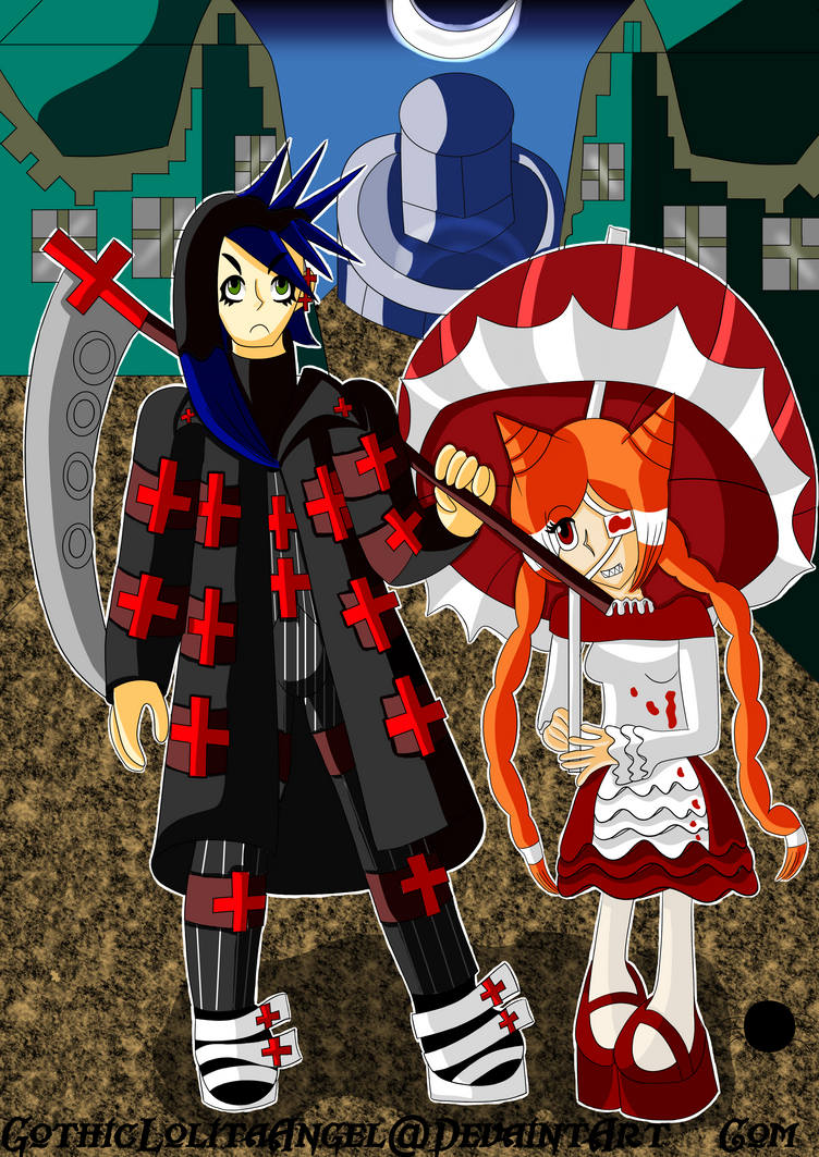 Alexander and Lorin ready to fight by GothicLolitaAngel