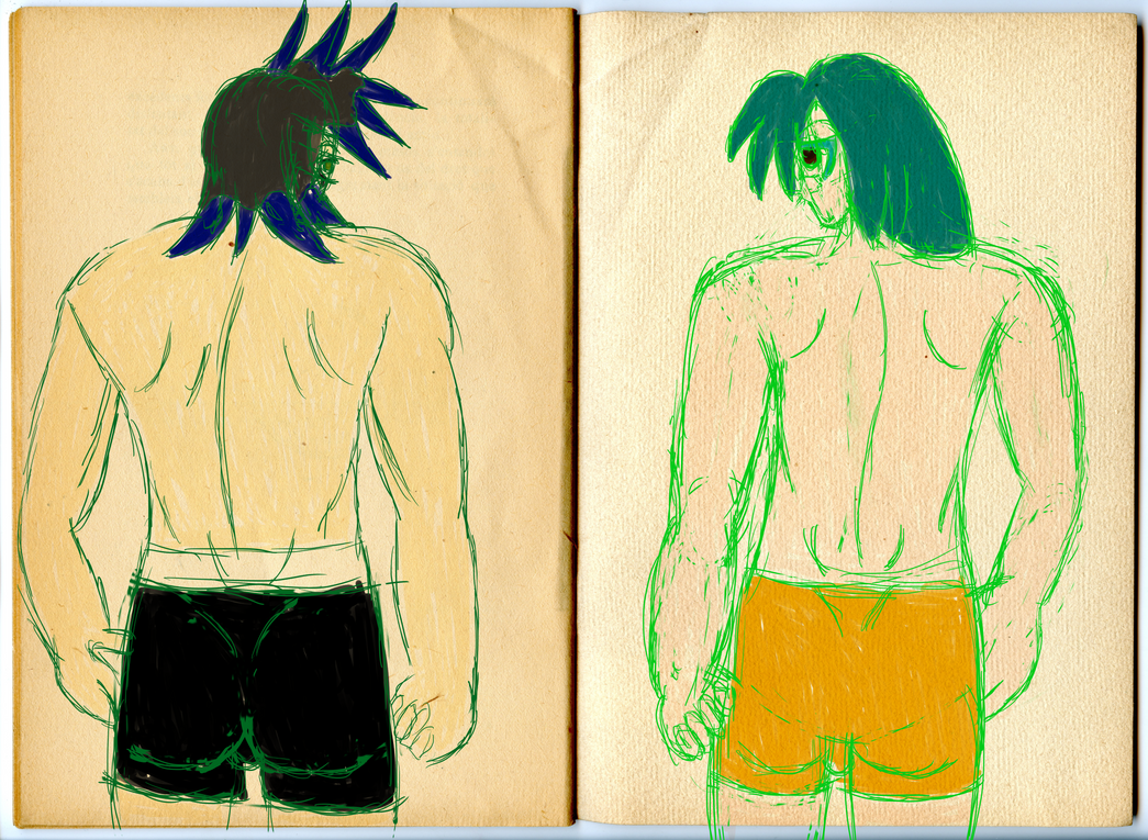 Alex and Nathan Body Studies by GothicLolitaAngel