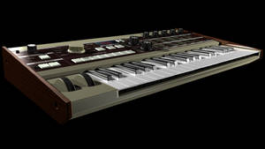 MicroKorg Synth in 3D no blur