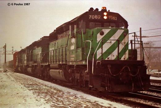 BN SD40-2s Fog 12-87