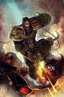Judge Dredd Vs Lobo by Corbella