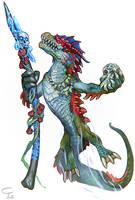 Draconid Sea Demon Summoner by Corbella
