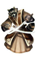 Heihachi - Raccoon by Corbella