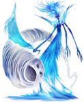 Water elemental - Air elemental by Corbella