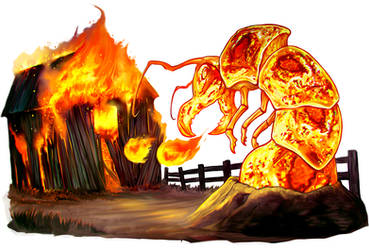 FIRE ANKHEG by Corbella