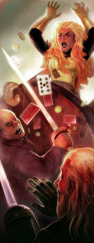 Fight in a gambling house by Corbella