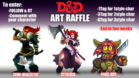 DnD Art Raffle on twitter