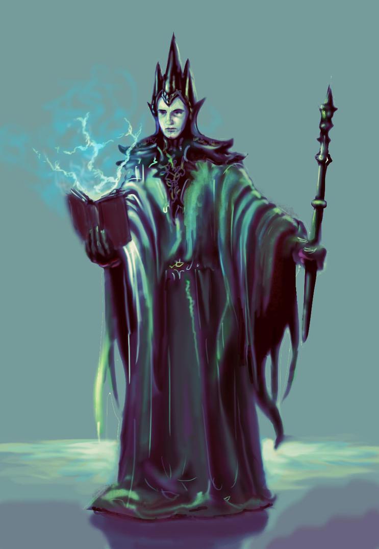 Dark Wizard by AndrewRyanArt