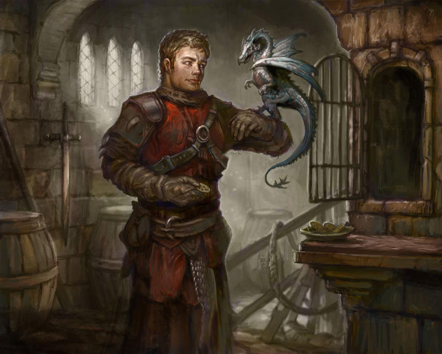 Dragon Feeder by AndrewRyanArt