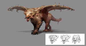 creature concept blood beast