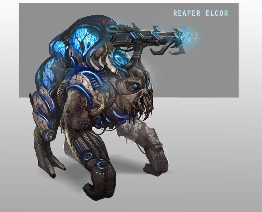 Reaper Elcor by AndrewRyanArt