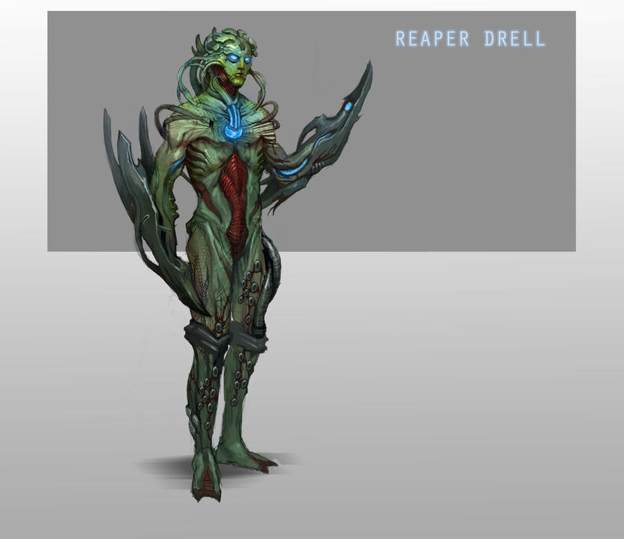 Reaper Drell by AndrewRyanArt
