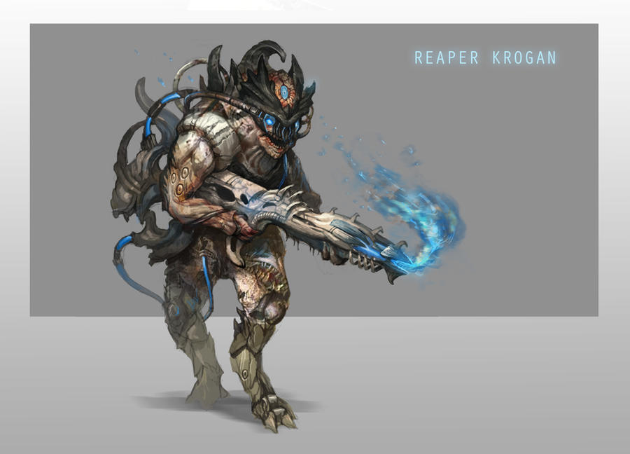 Reaper Krogan by AndrewRyanArt