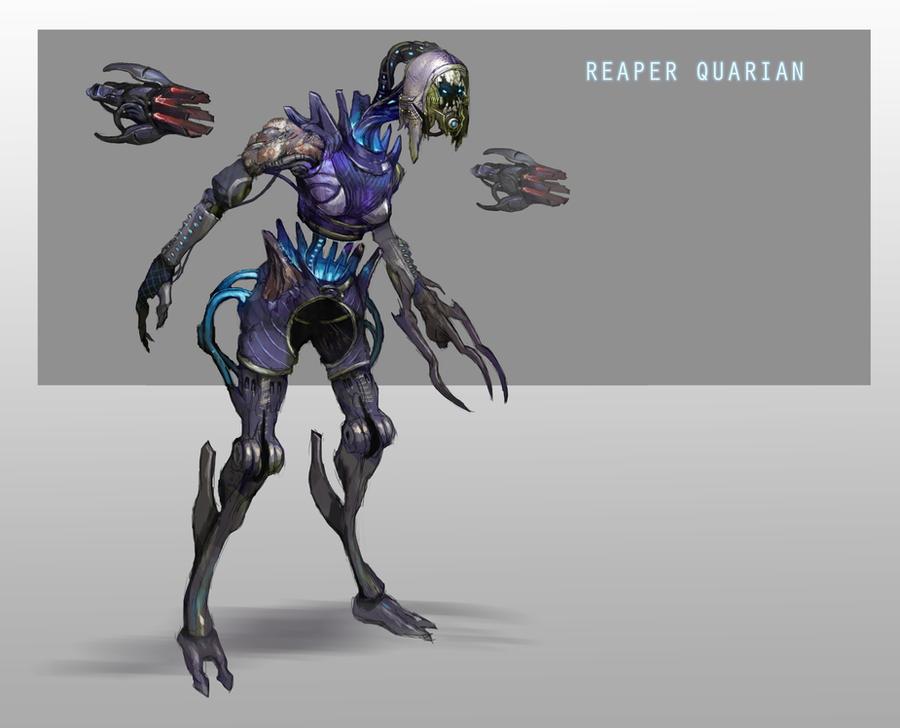 Reaper Quarian by AndrewRyanArt
