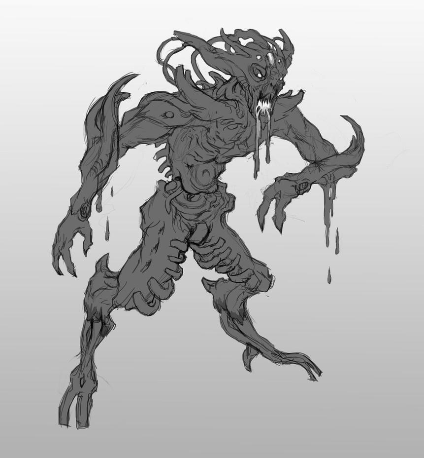 Reaper vorcha sketch by AndrewRyanArt