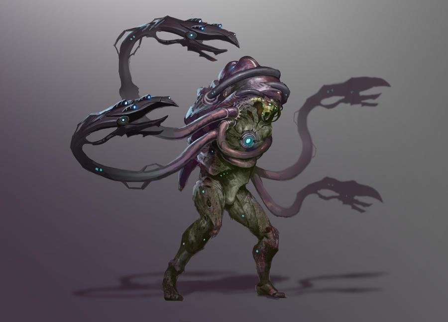 Reaper Drell/Hanar hyrbrid by AndrewRyanArt