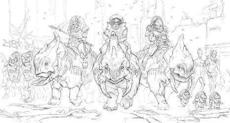 A Future for the Krogan Sketch by AndrewRyanArt