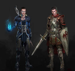 Dragon Effect Shep/Kaidan by AndrewRyanArt