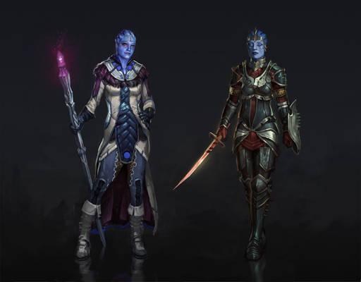 Dragon Effect: Liara and Samara