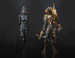 Dragon effect: EDI/Legion by AndrewRyanArt