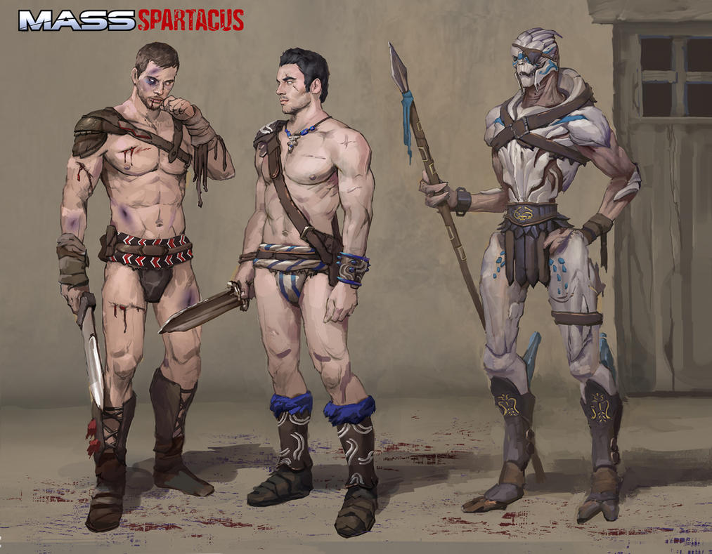 Spartacus AU by AndrewRyanArt