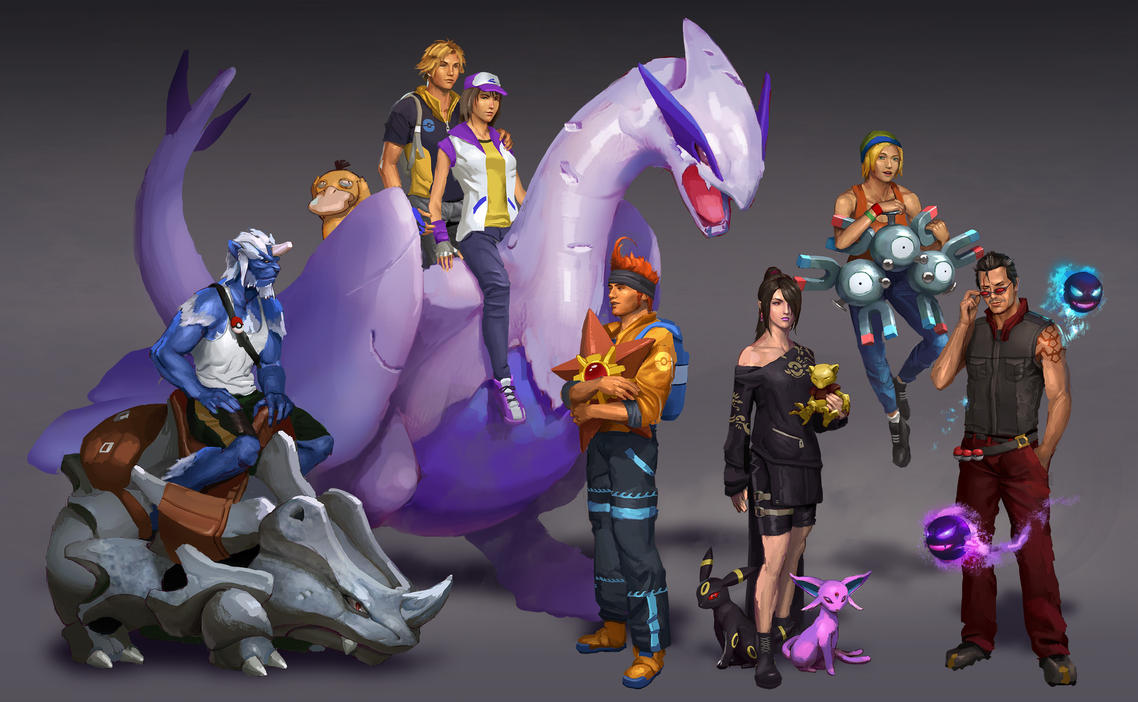 Final Fantasy X + Pokemon by AndrewRyanArt