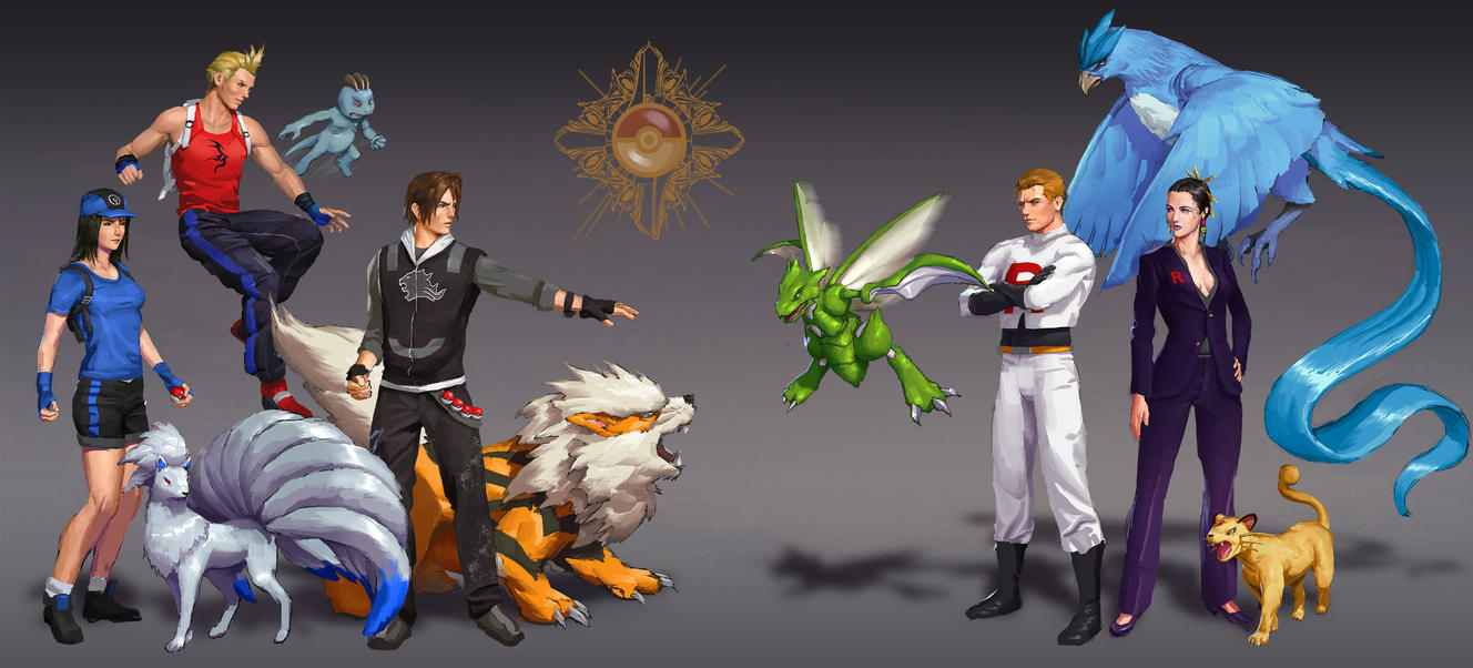 Final Fantasy 8 + Pokemon by AndrewRyanArt